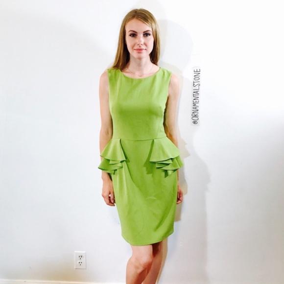Betsey Johnson Dresses & Skirts - BETSY JOHNSON GREEN PEPLUM DRESS #0141